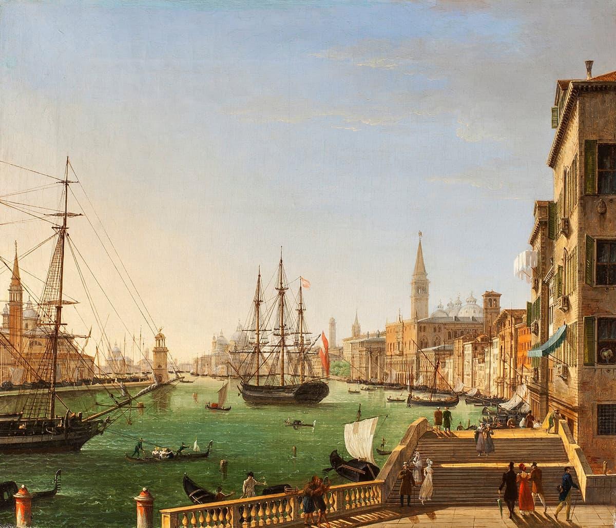 A View of Venice by Giuseppe Borsato, 1821 at Rafael Valls Ltd.