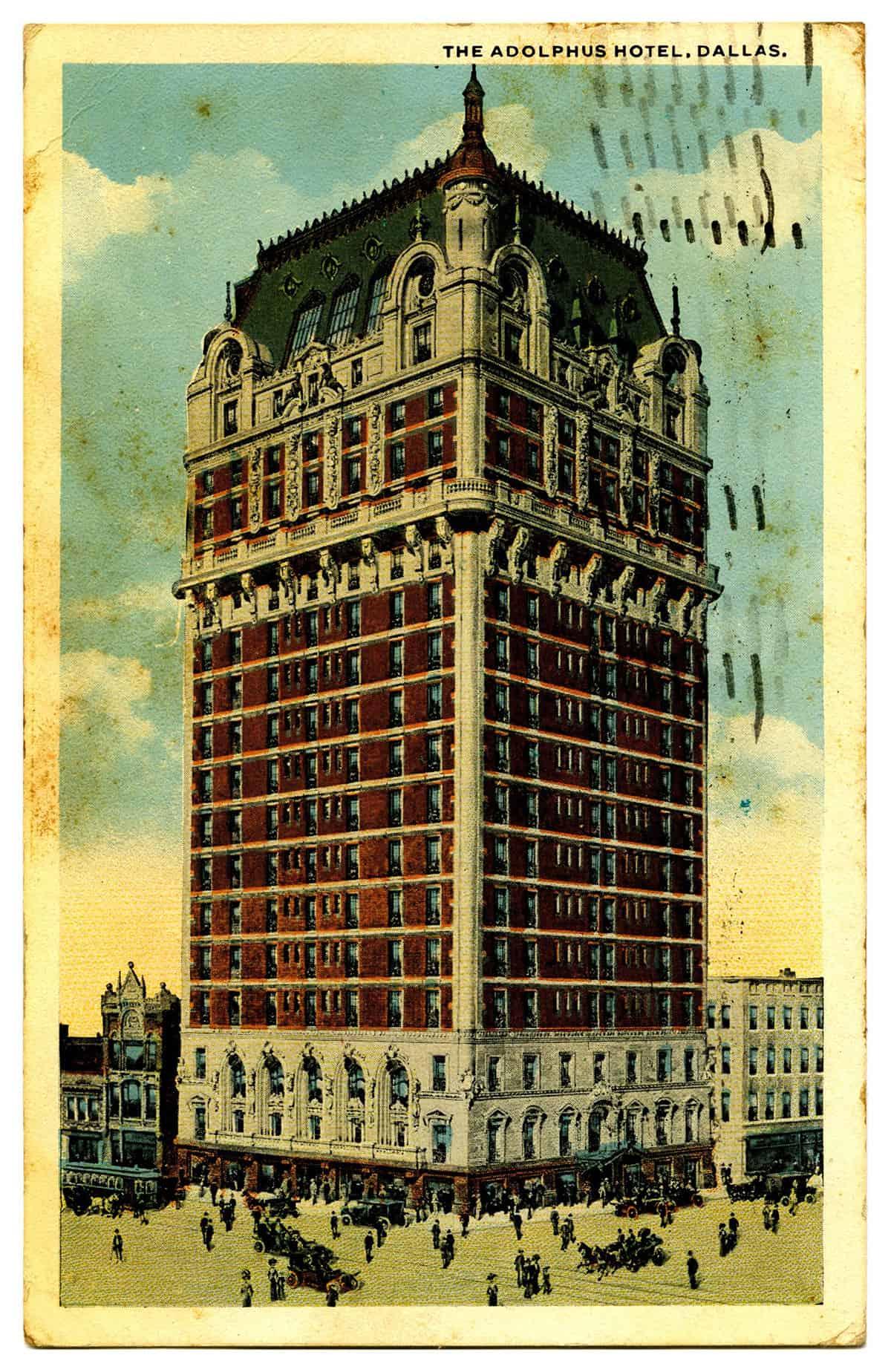 Adolphus Hotel, 1920s. Courtesy of Texas History Handbook