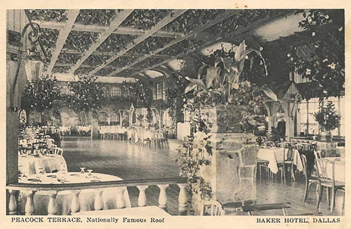 Baker Hotel ballroom, 1930s