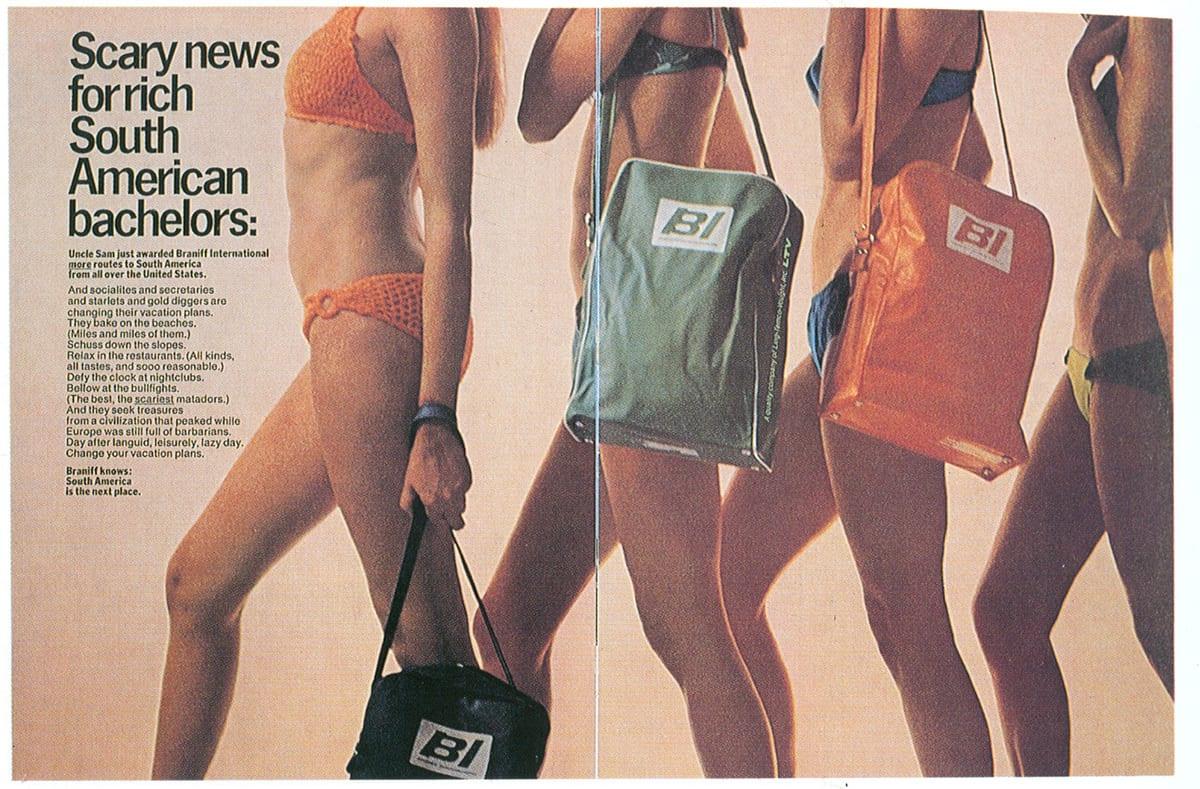 Braniff ad, 1970s