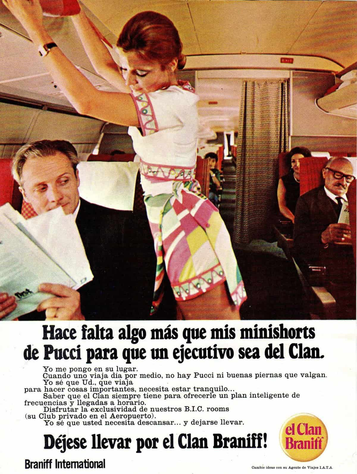 Braniff ad for Mexico, 1960s