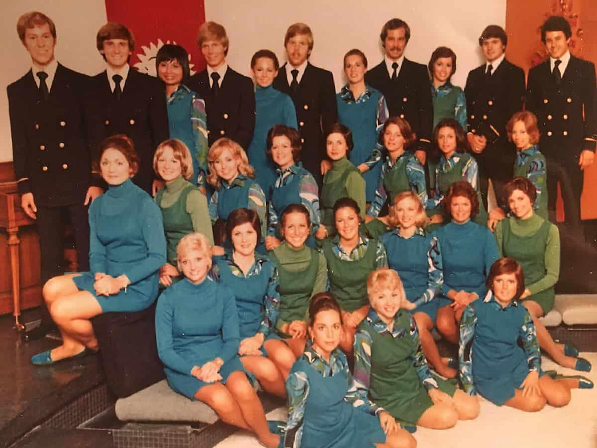 Braniff flight crew class, 1970s