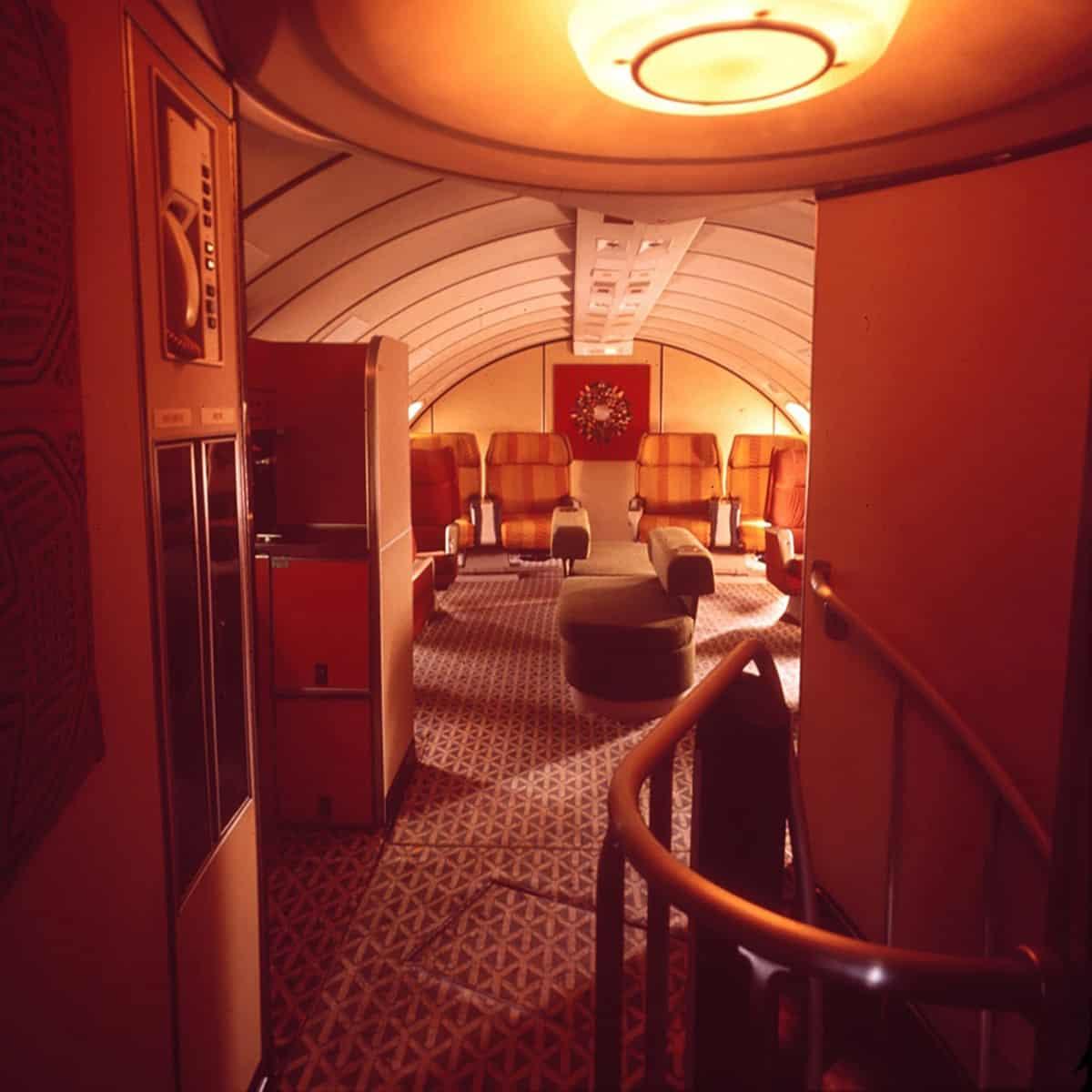 Braniff's Boeing 747First Class Upper Deck