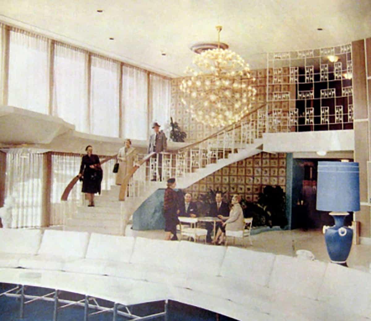 Cabana Hotel interior, 1960s