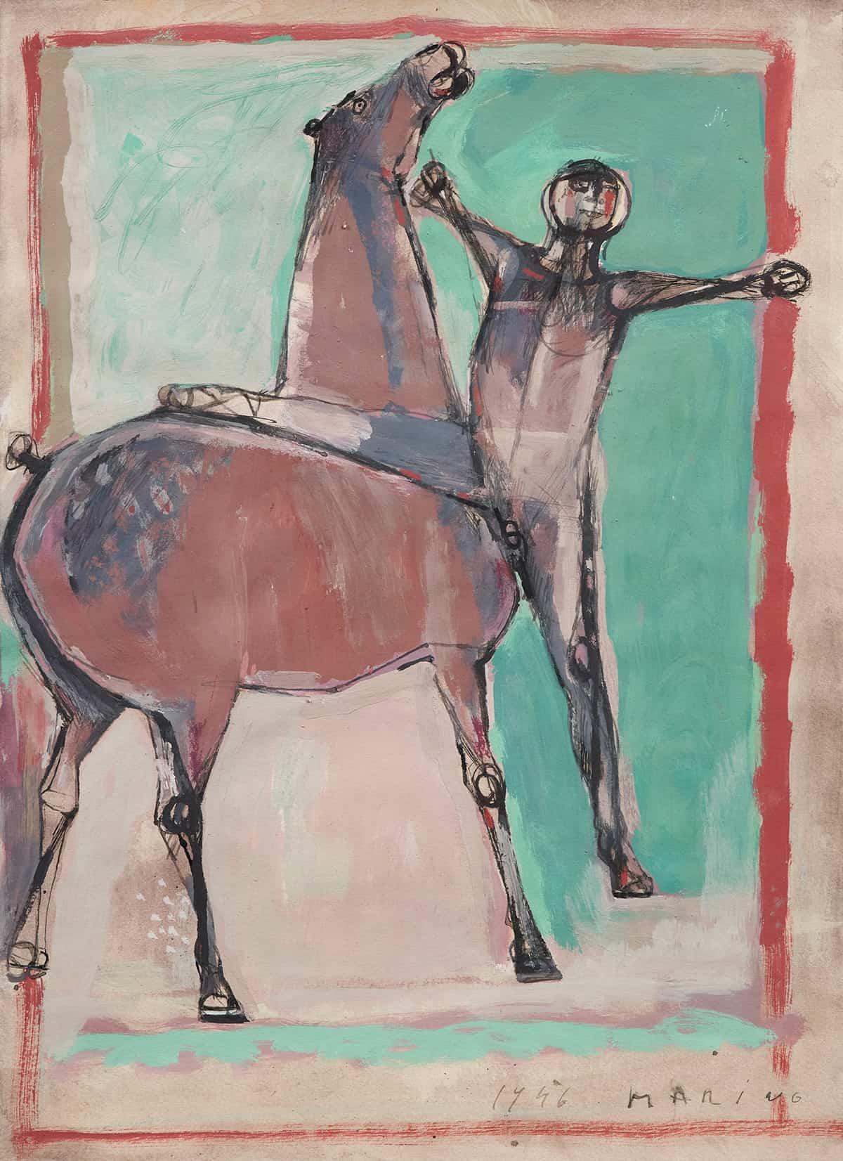 Cavalo e Cavaliere by Marino Marini, 1946 at Thomas Salis