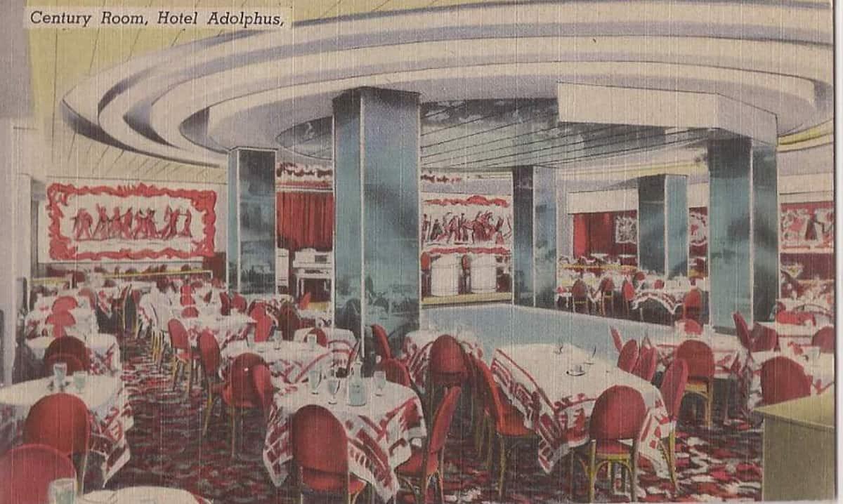 Century Room at Hotel Adolphus, 1940