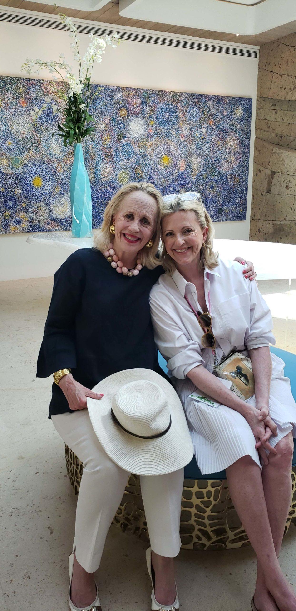 Charlotte Tripplehorn and Ann Barbier-Mueller SILHOUETTE