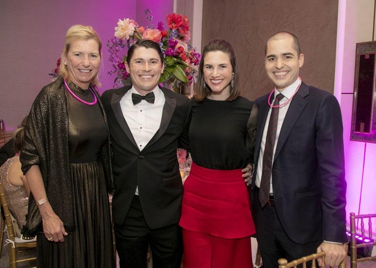 Cindy Matula, Chris Wieland, Katie Owen and Mark Sanchez