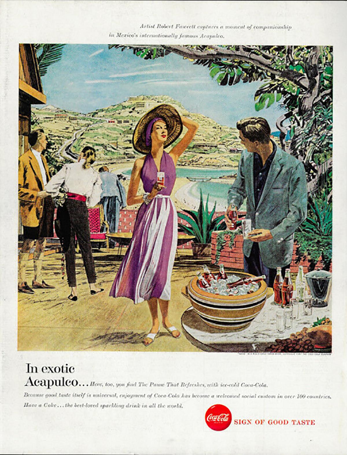 Coca Cola ad, 1957