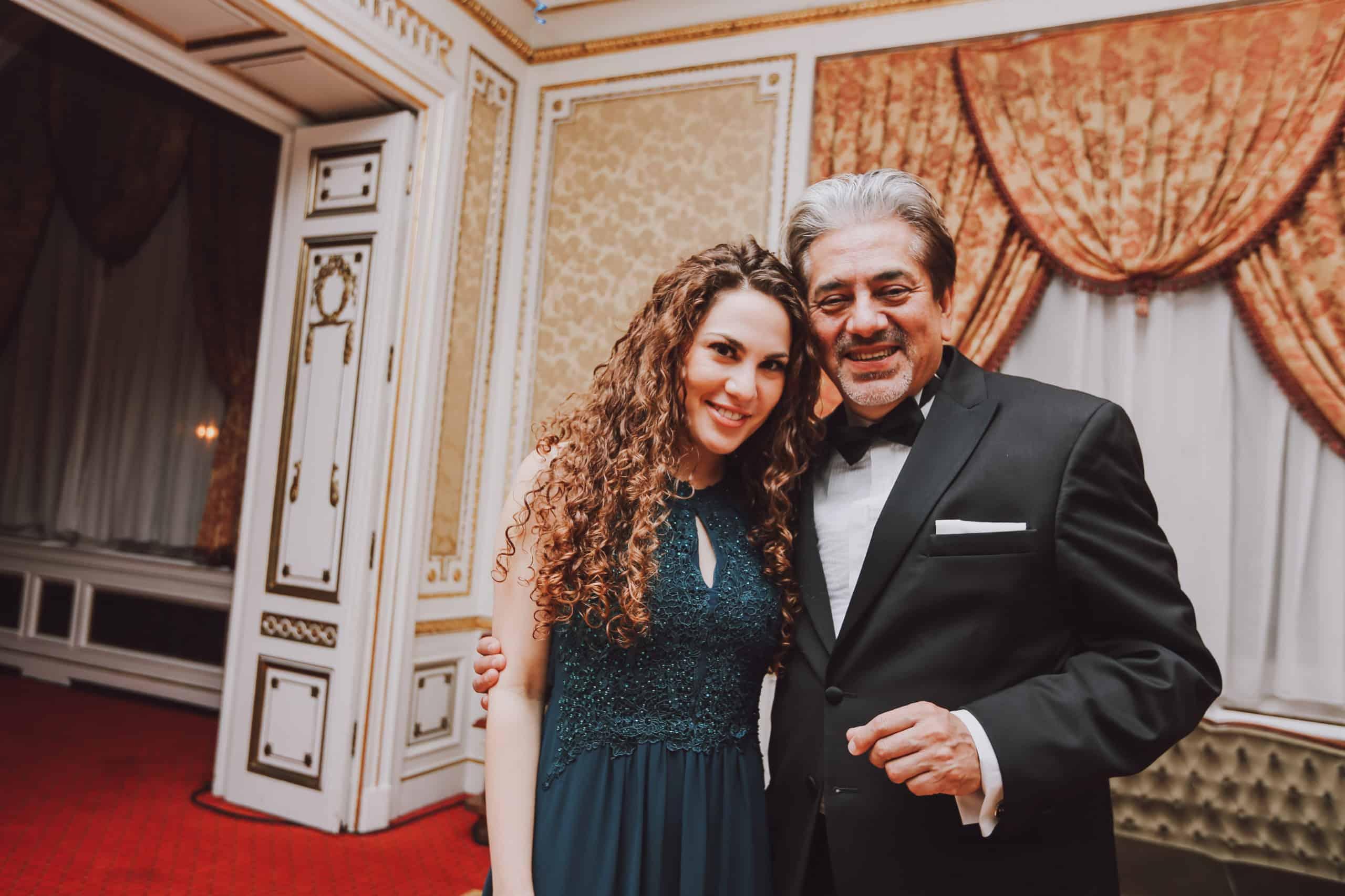 Edina Koltai and Hon. David Najera