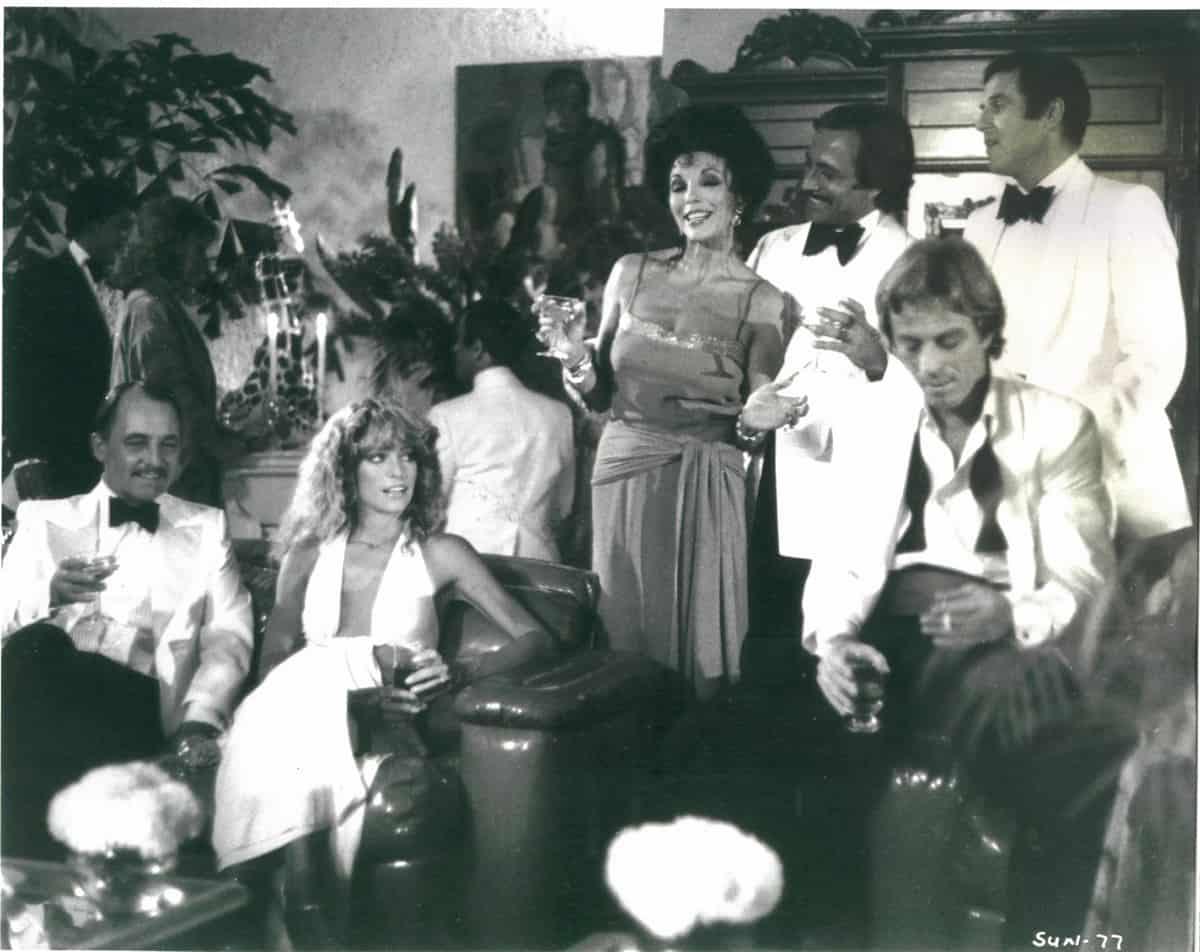 Farrah Fawcett, Joan Collins and Charles Grodin in Sunburn, 1979