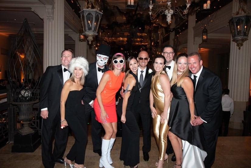 Group with James Bond theme table MAIN