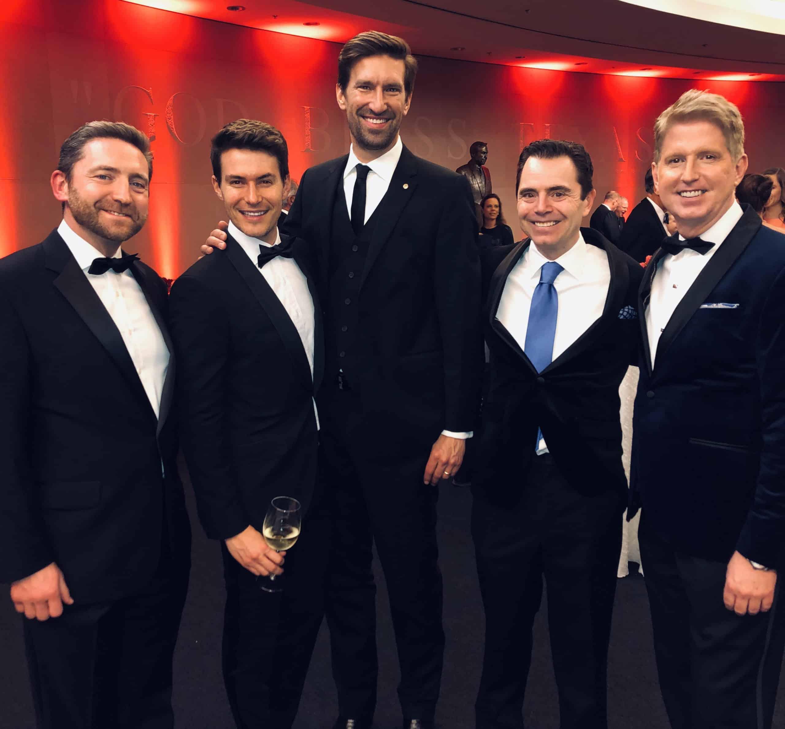 Hon. Adrian Farrell, Brendan Bujold and Spencer Cronk _ Rob Giardinelli and Lance Avery Morgan
