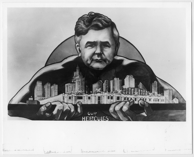 Jesse Jones caricature, 1940s