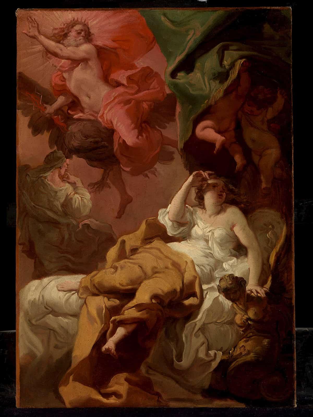 Jupiter and Semele by Gaetano Gandolfi, 1770 at Walter Padovani