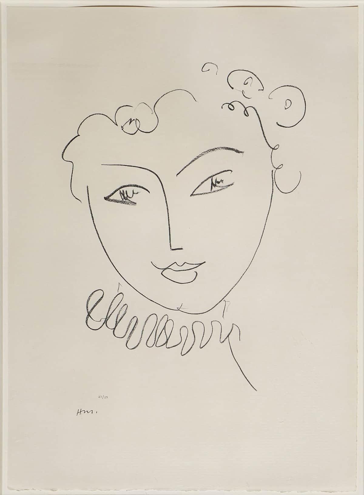 La Pompadour by Henri Matisse, 1951 at Galerie Thomas