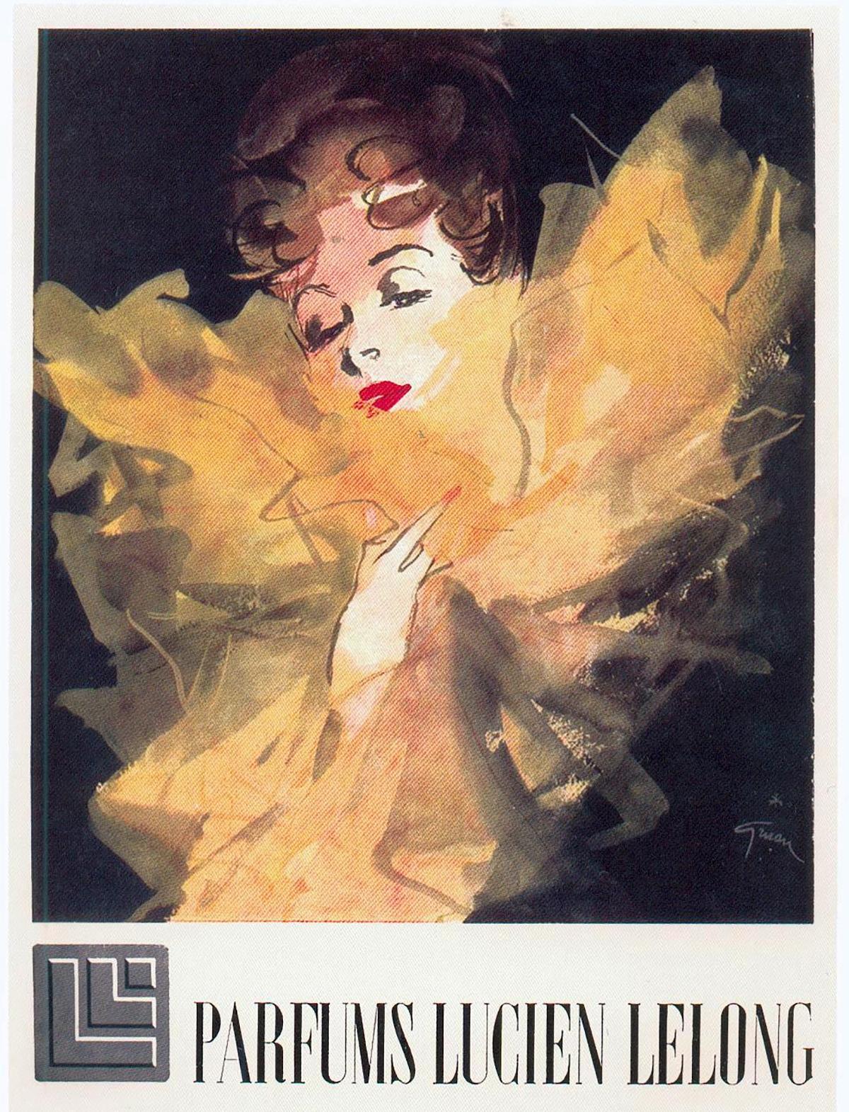 Lucien Lelong Parfum ad, 1930s