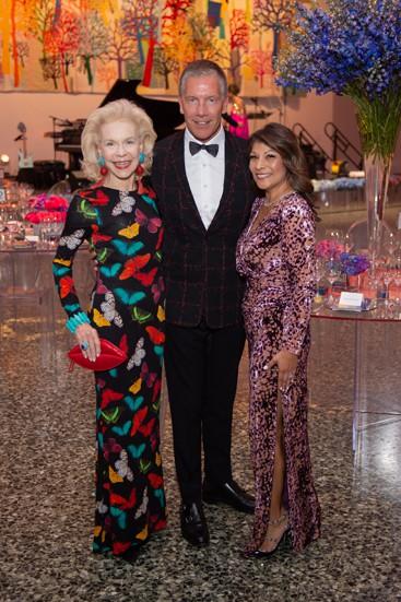 Lynn Wyatt, Michael Moser and Petra Martinez