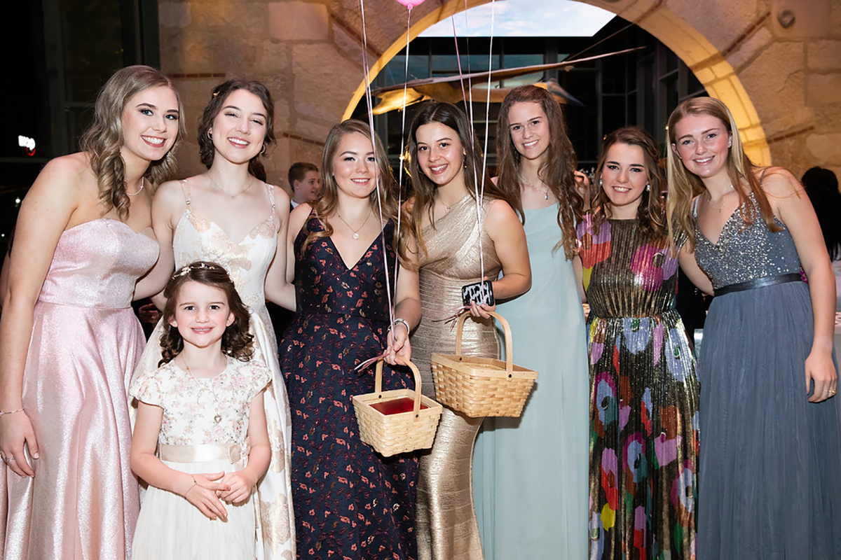 Norah MacKinnon, Rebecca Taylor, Andie Feik, Isabella Grossman, Annie Mosis, Jessica Mimms and Sadie Peeler