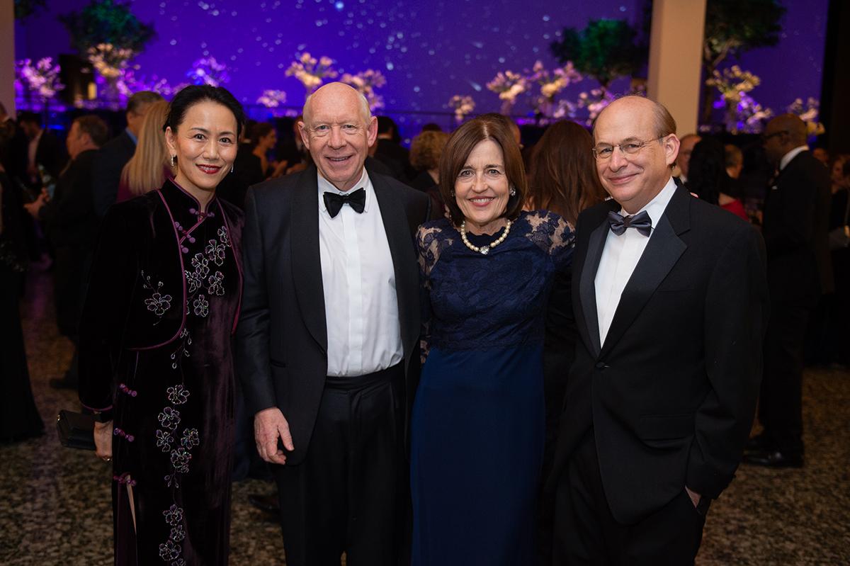 Ping Sun, Hon. Bill and Andrea White & David Leebron