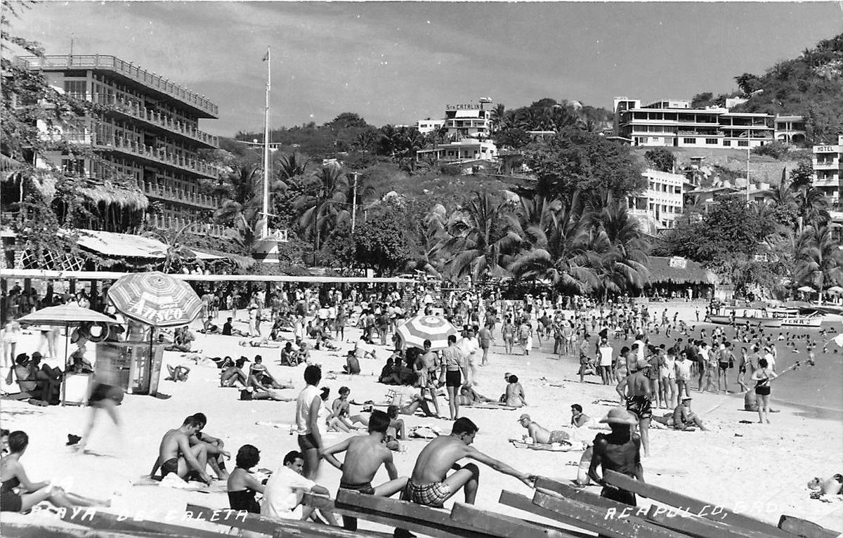 Playa de Caleta, Acapulco, 1950s