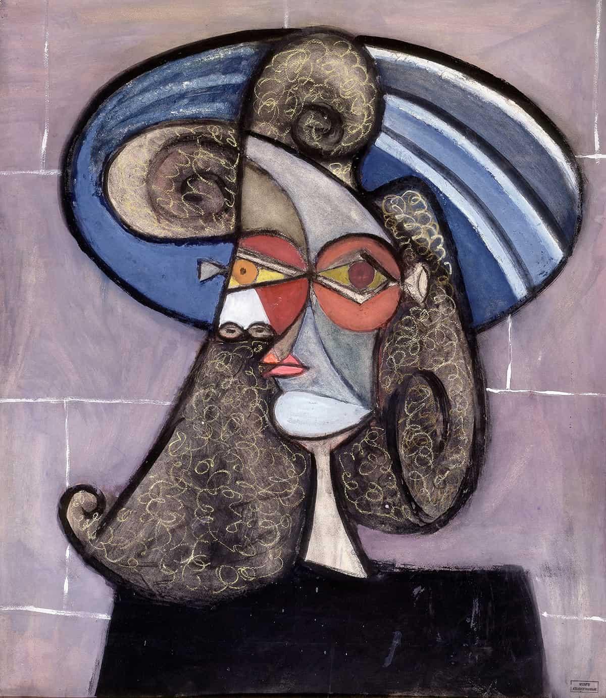 Portait de Profil au Chapeau Bleu by Dora Maar, 1939 at Brame & Lorenceau