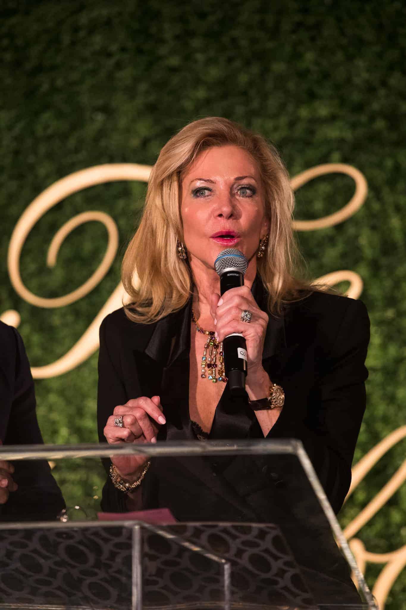 Rebecca Hardeman announcing the Mercedes-Benz Raffle winner
