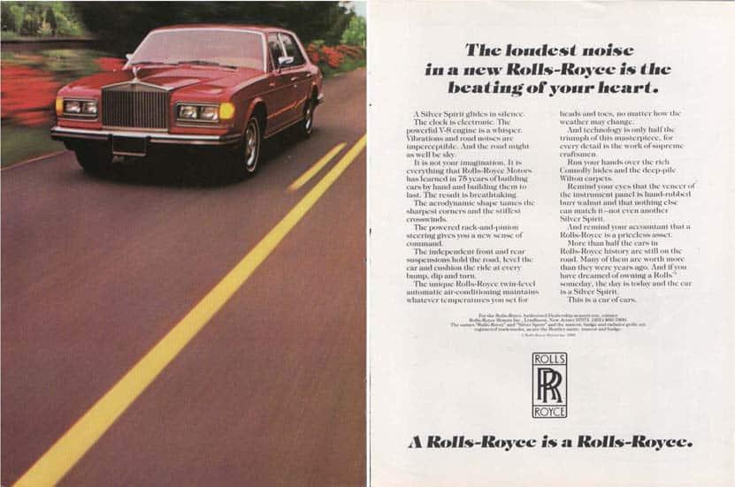 Rolls Royce ad, 1970s