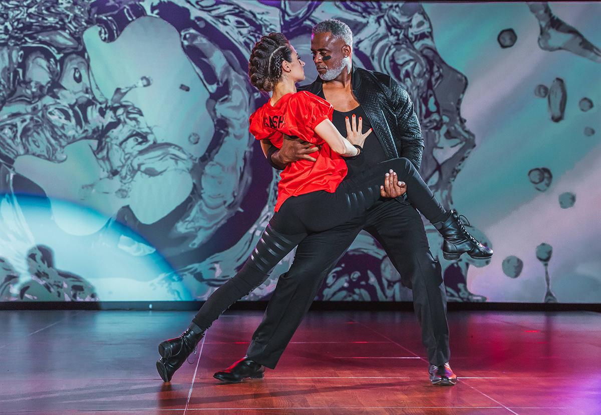 Sasha Kurashko and Jeff Blake