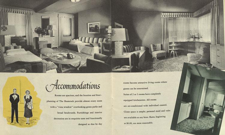 Shamrock Hotel Accommodations, 1950s