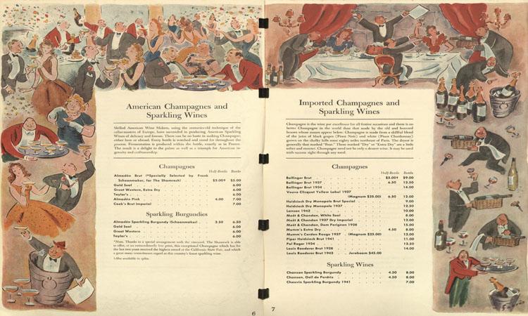 Shamrock Hotel's wine list