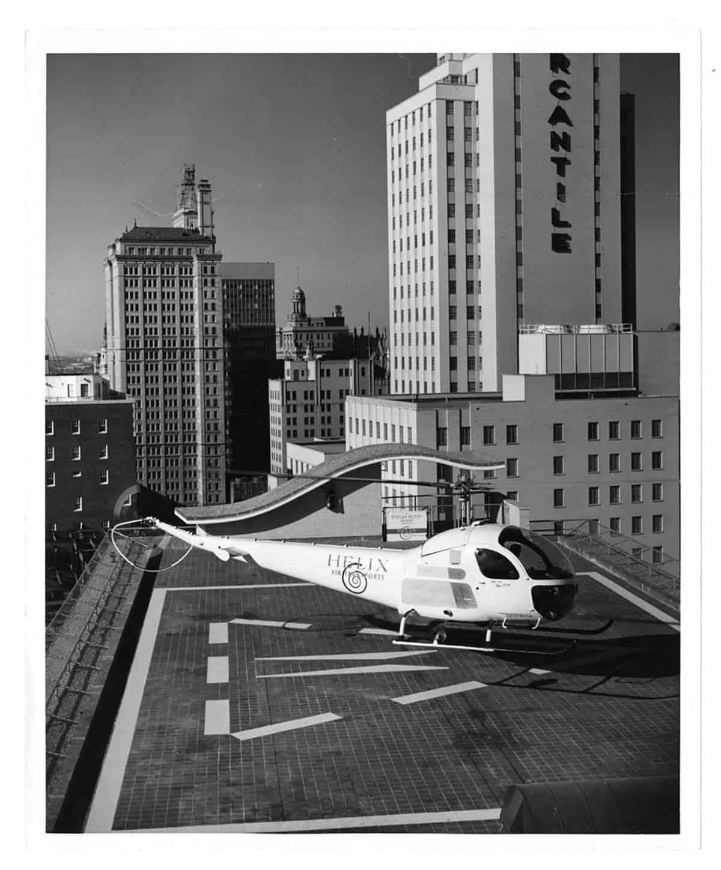 Statler Hilton Helipad, 1970s