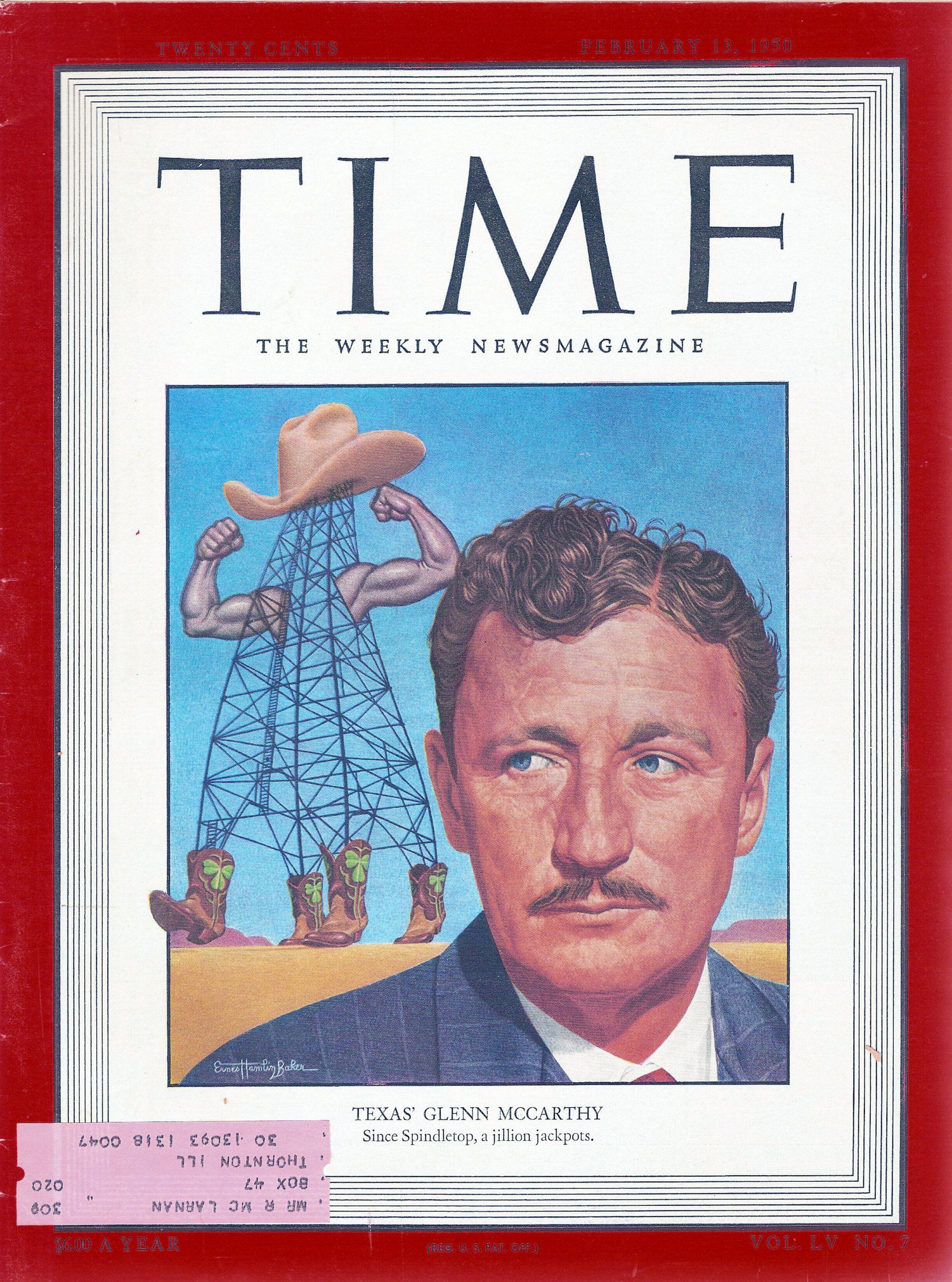 TIme, Glenn McCarthy, Feb, 13,1950