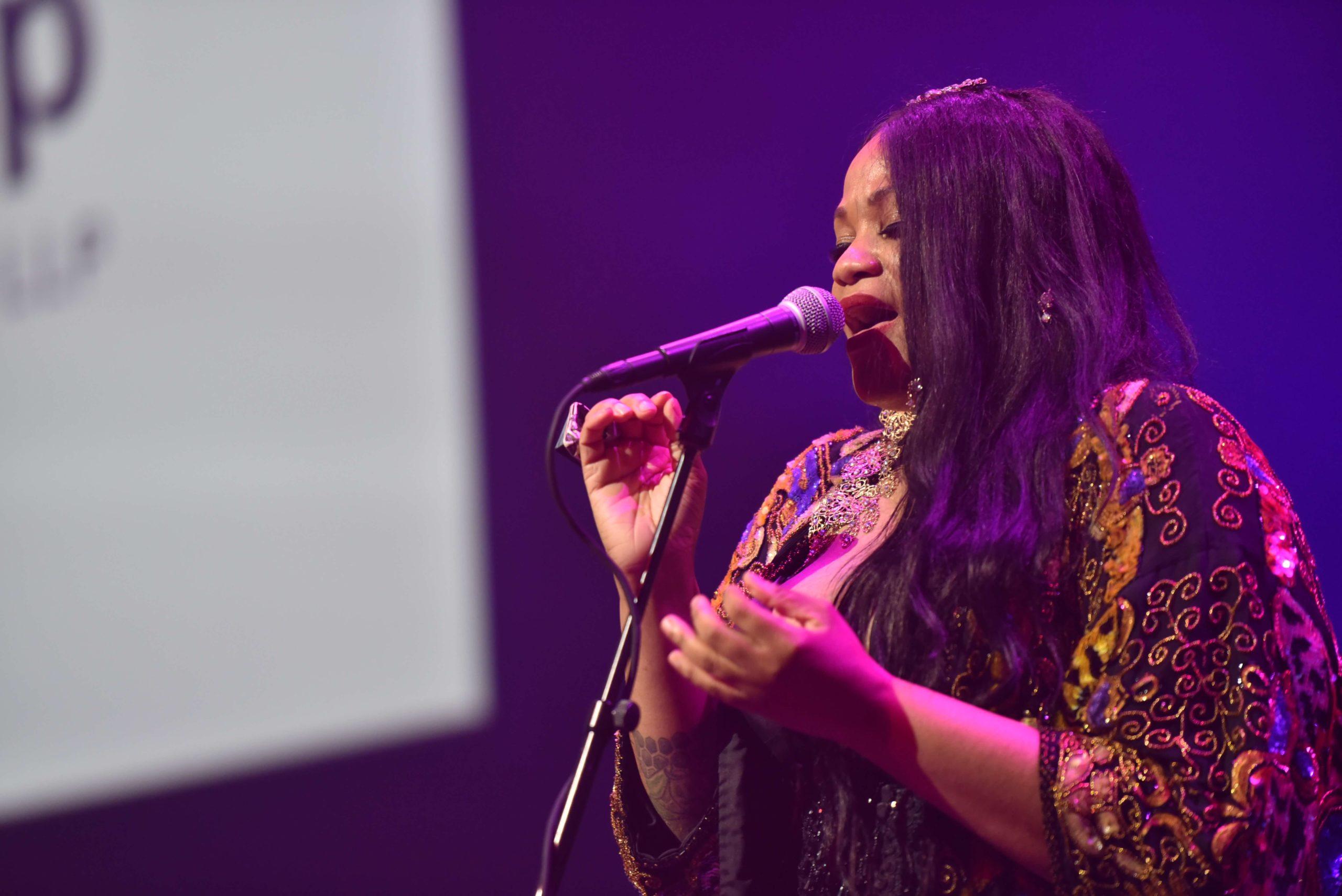 Tameca Jones performs
