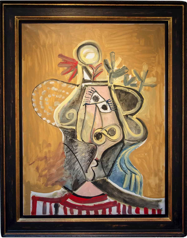 Tete de Feme by Pablo Picasso. Signed 1971 at Van de Weghe