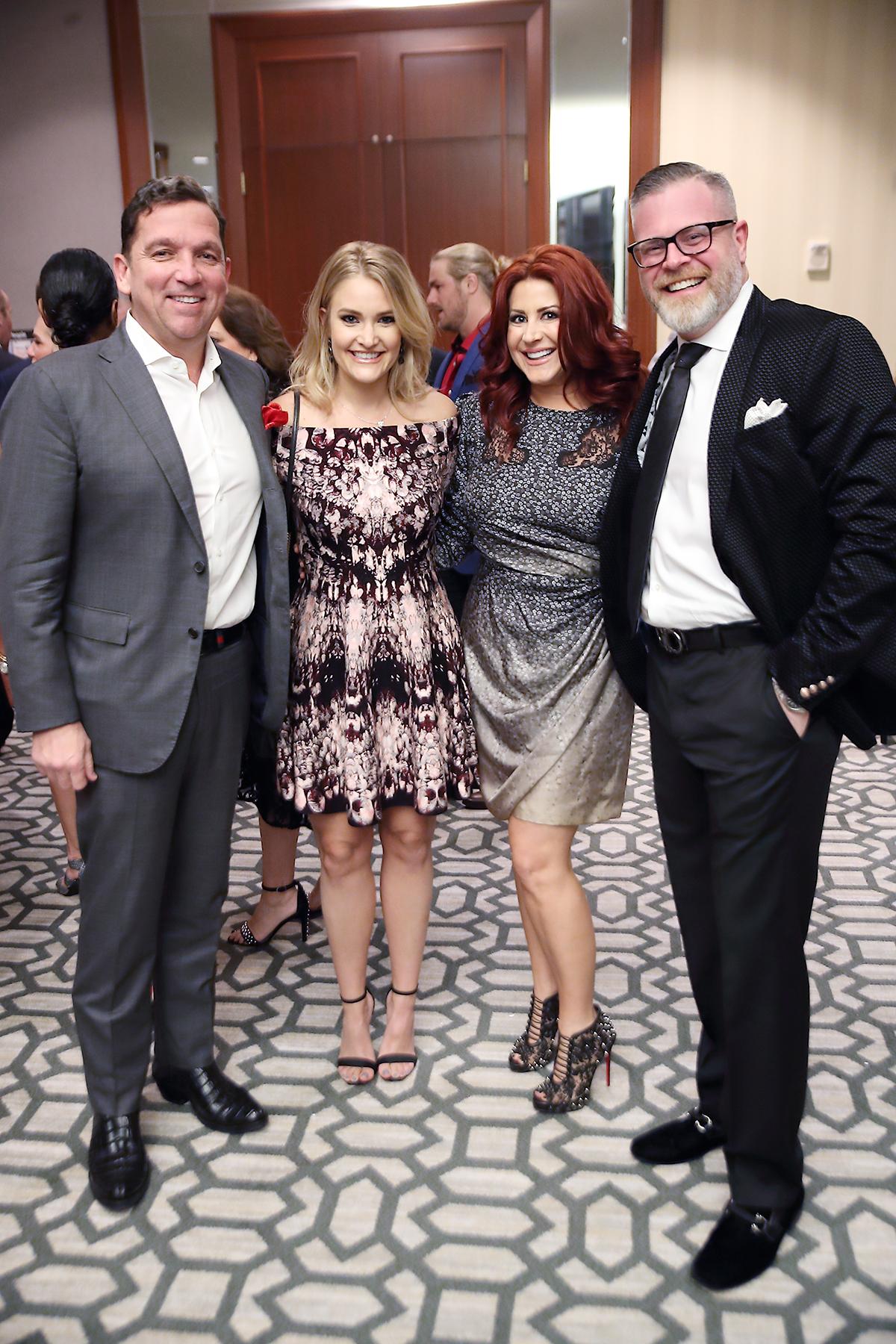 Tony Buzbee, Frances Moody & Jennifer and Chad Pinkerton