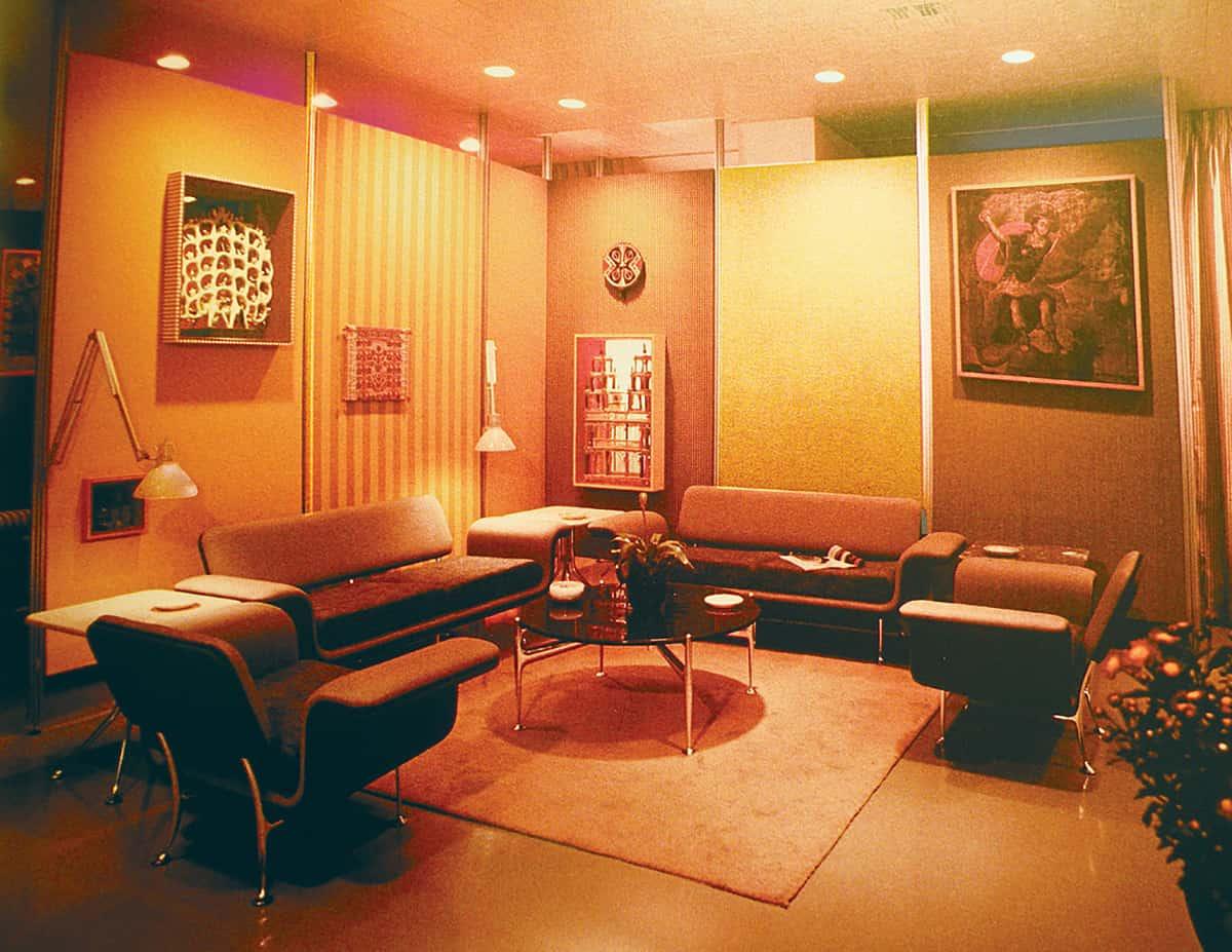 Vintage Braniff VIP lounge