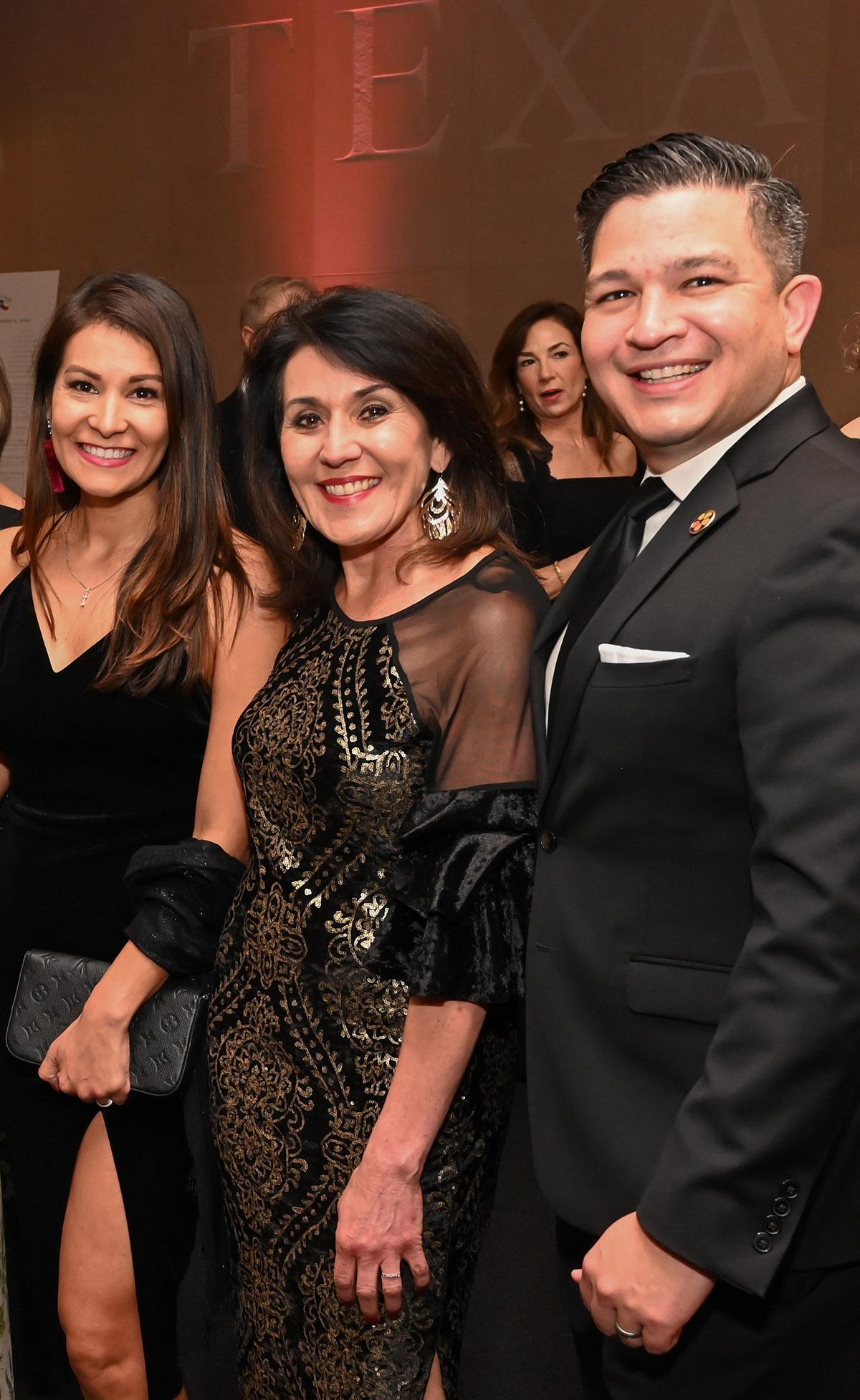 Yvonne Rodriguez, Veronica Hinojosa-Segura and Luis Rodriguez