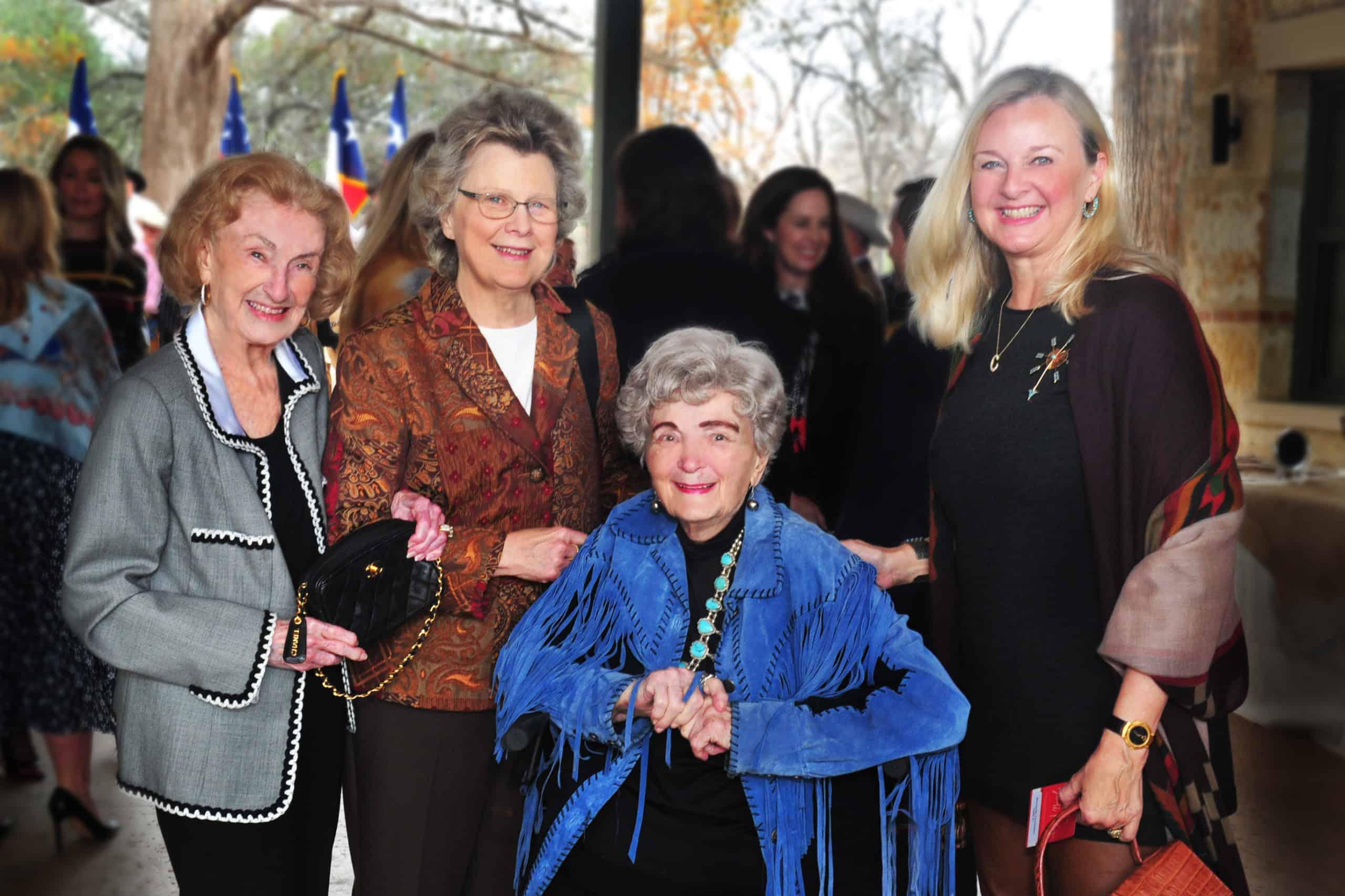 Charline McCombs, Marsha Shields, Lila Cockrell and Connie McNab