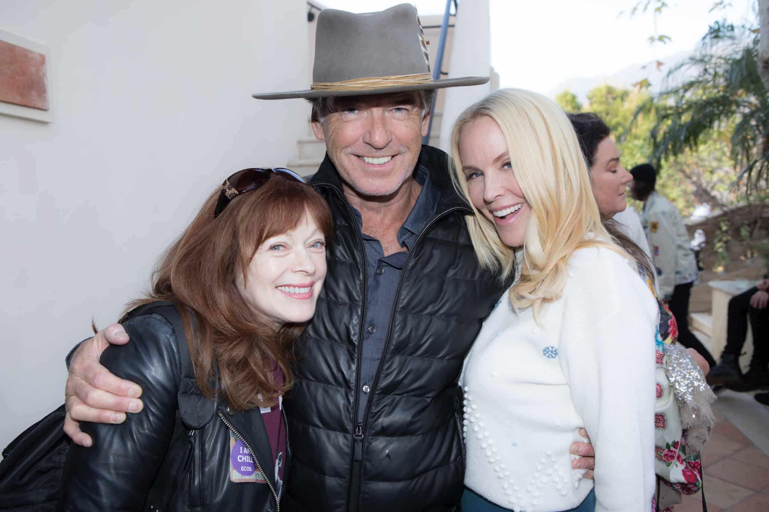Frances Fisher, Pierce Brosnan and Eloise DeJoria