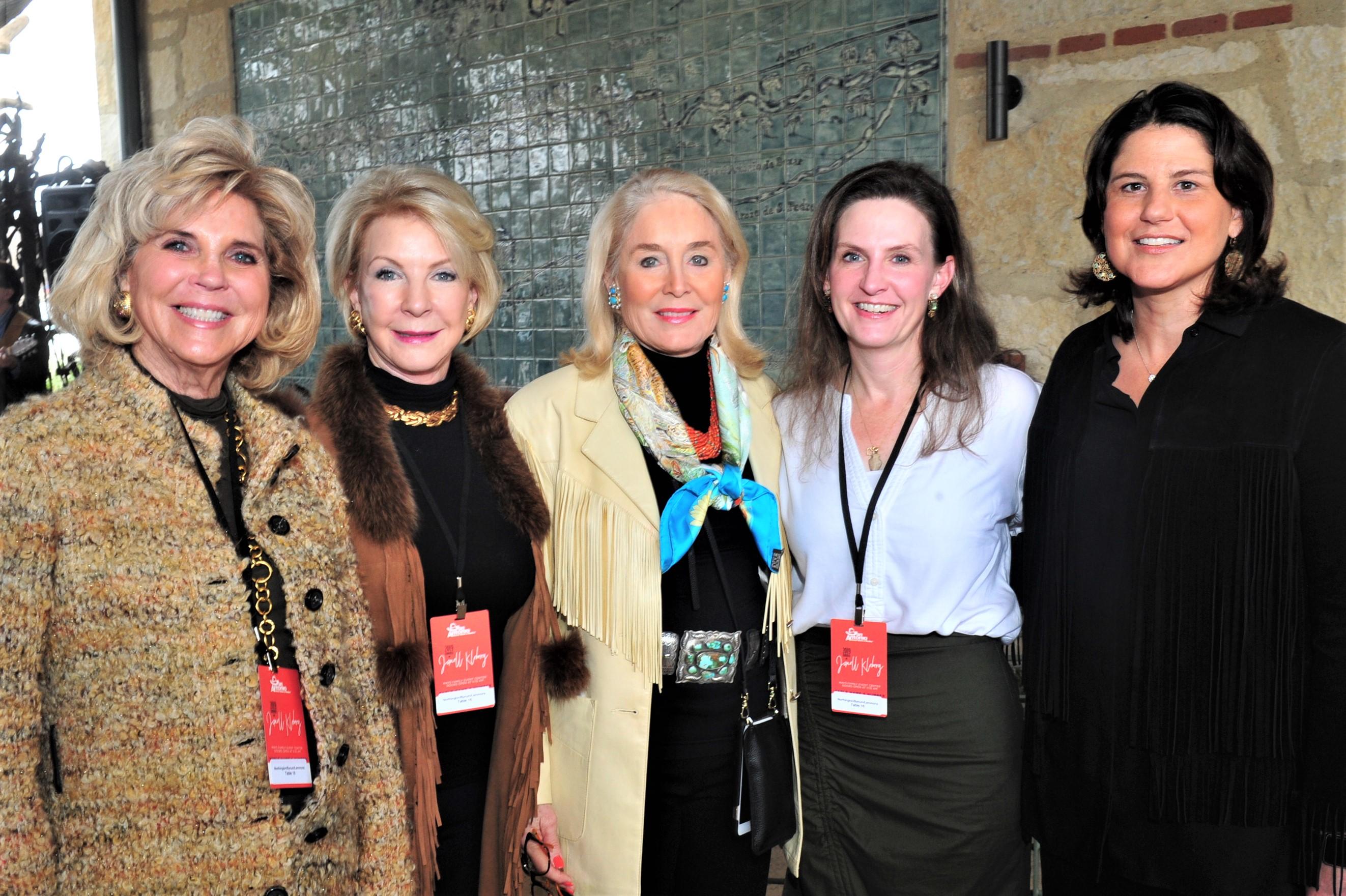 Karen Hunke, Carla Northington, Janell Kleberg, Mona George and Kim Kleberg