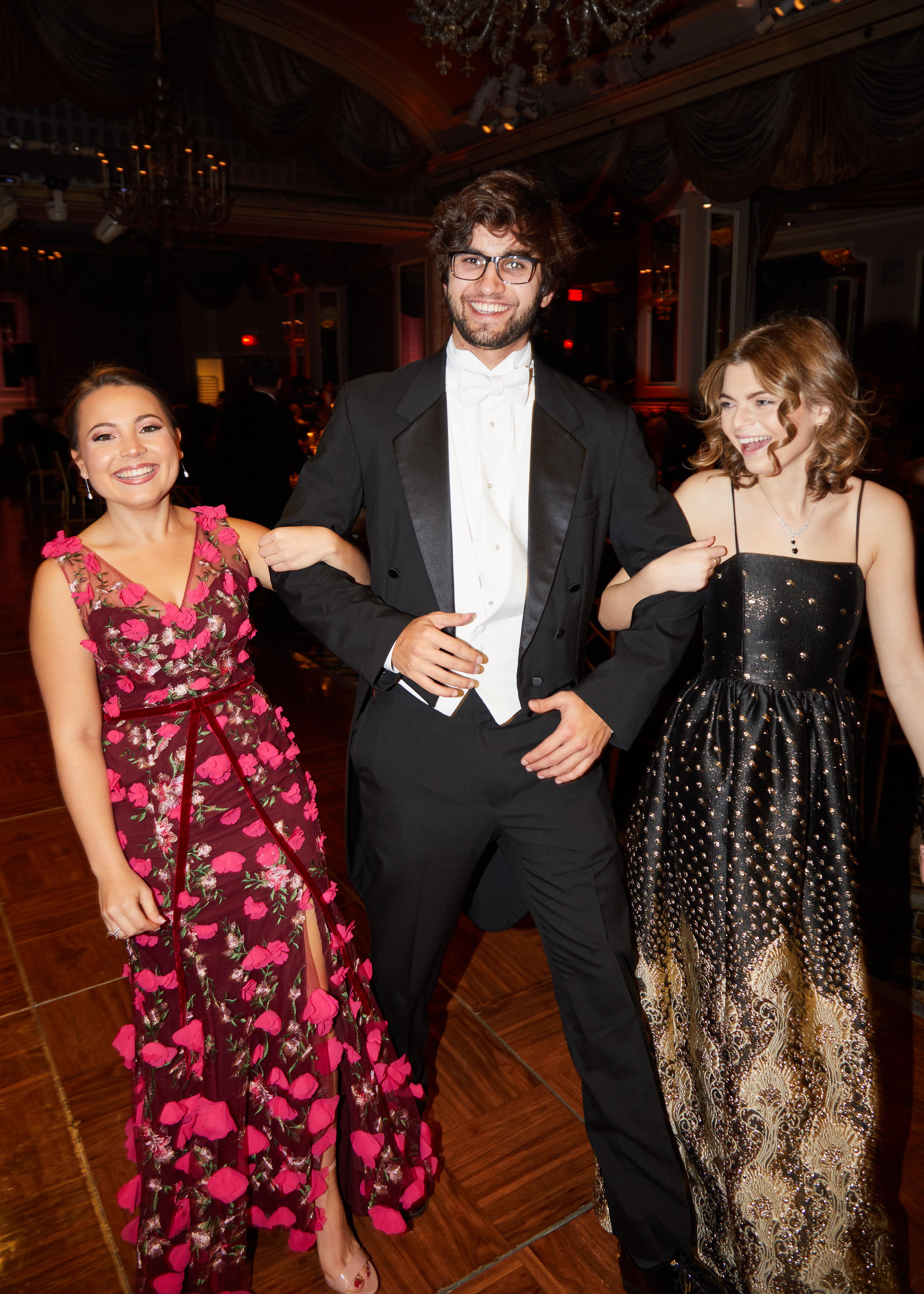 Logan Welborn, Tristan Jamidar and Claire Ryland
