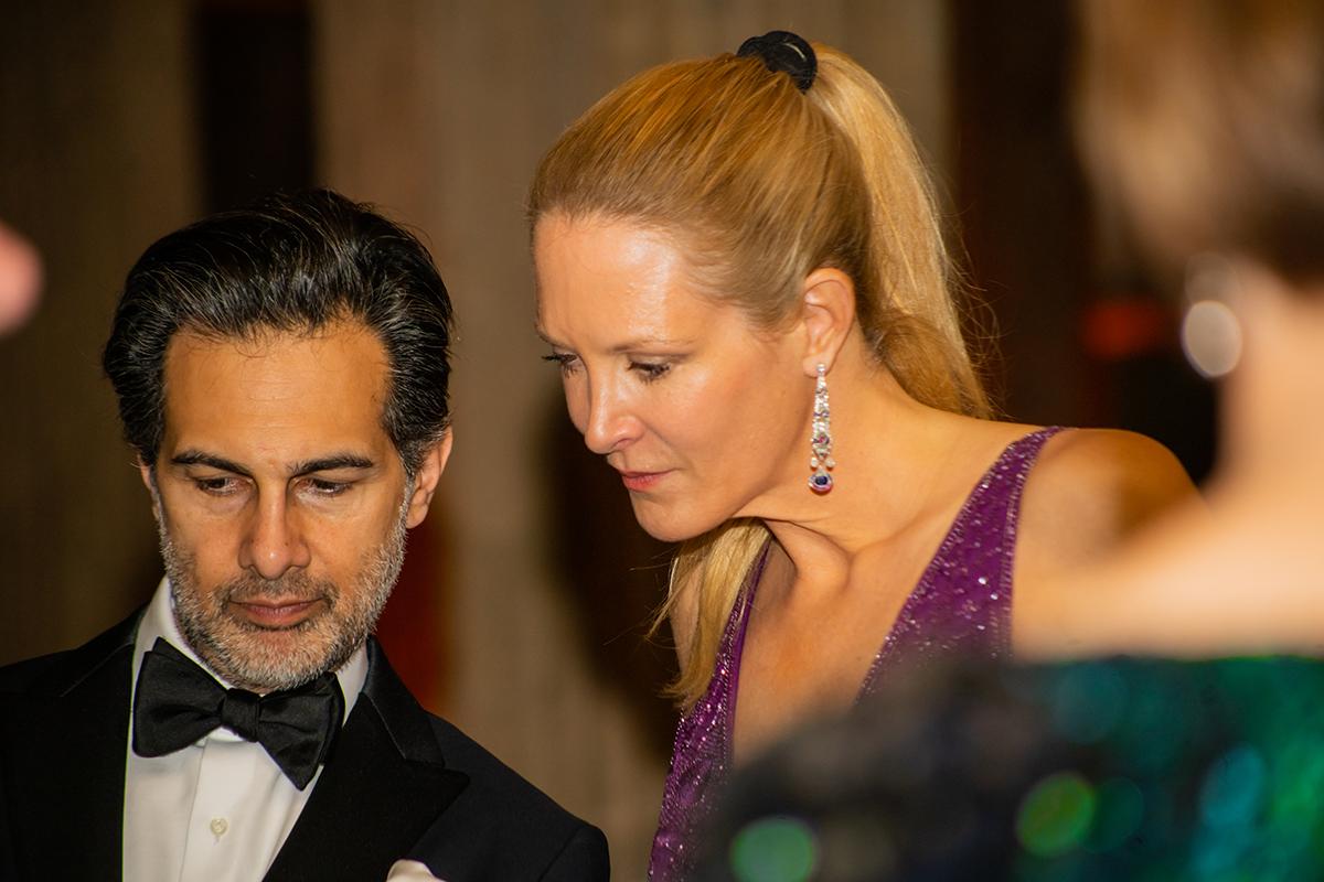 Amin Jaffer and Eva Dichand