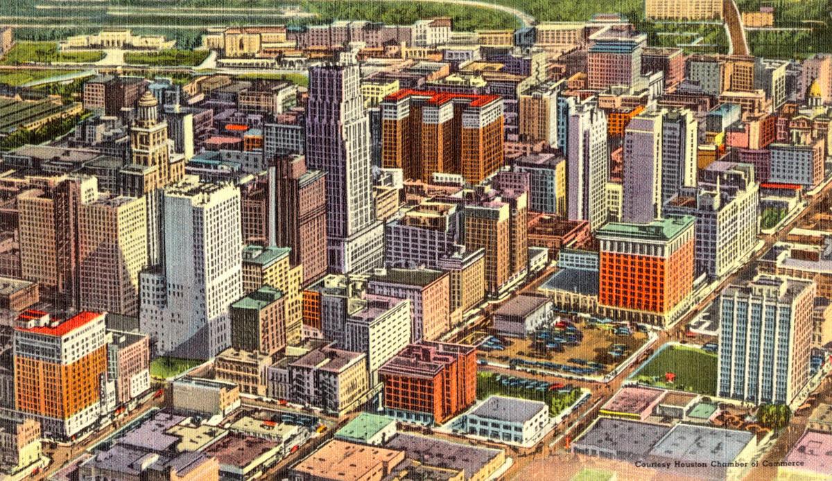 Downtown Houston skyline, 1960s