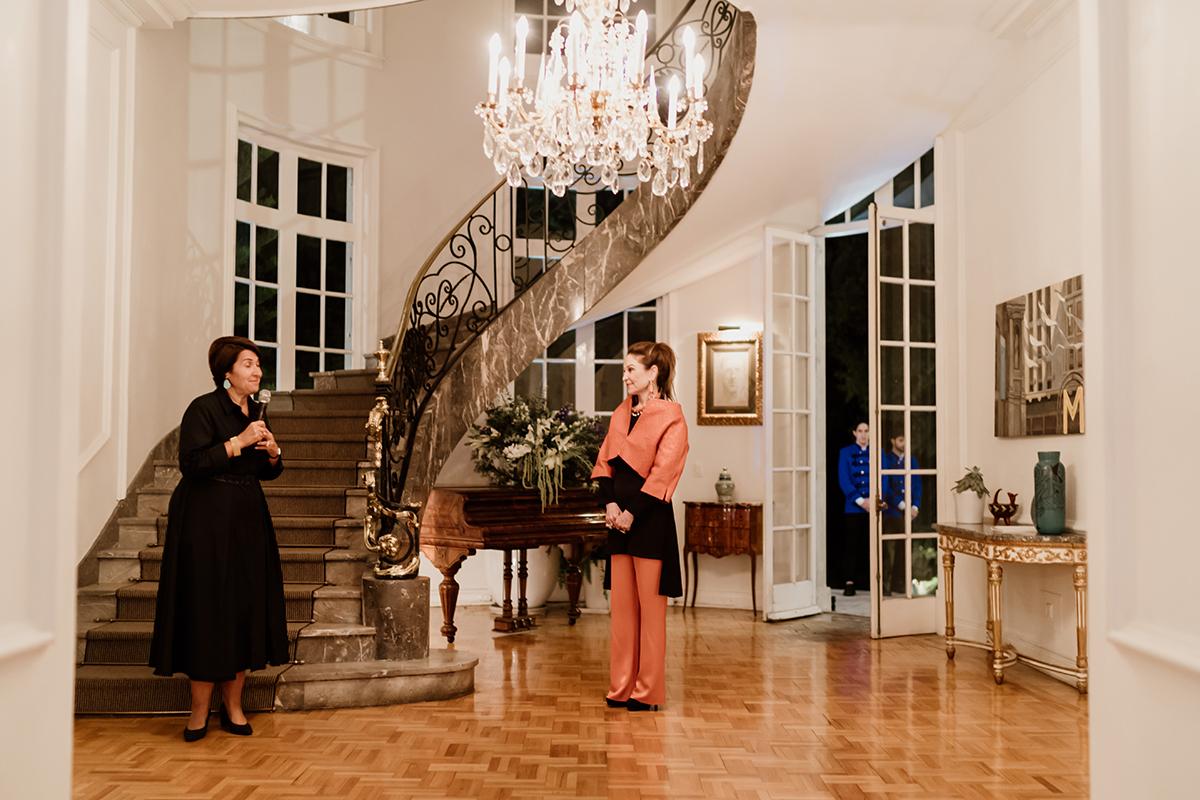 French Ambassador Anne Grillo and Becca Cason Thrash
