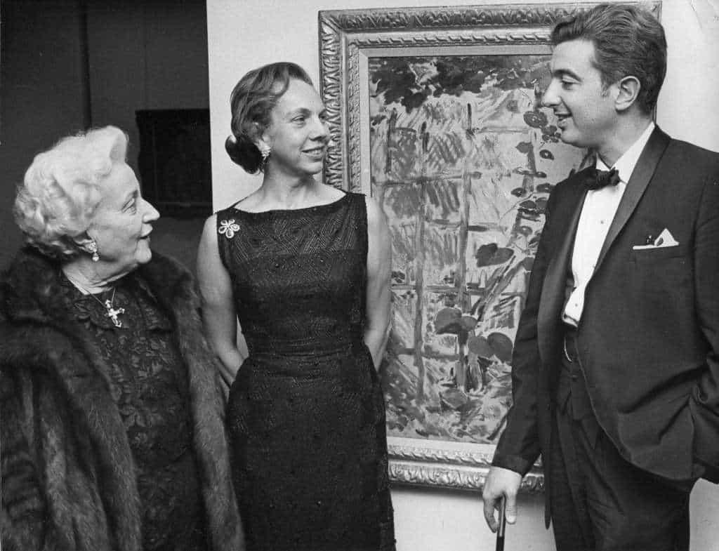 Magaret Tobin and Robert L.B. Tobin and guest, 1950s