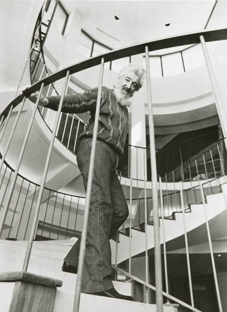 Robert L.B. Tobin at home, 1980s 2