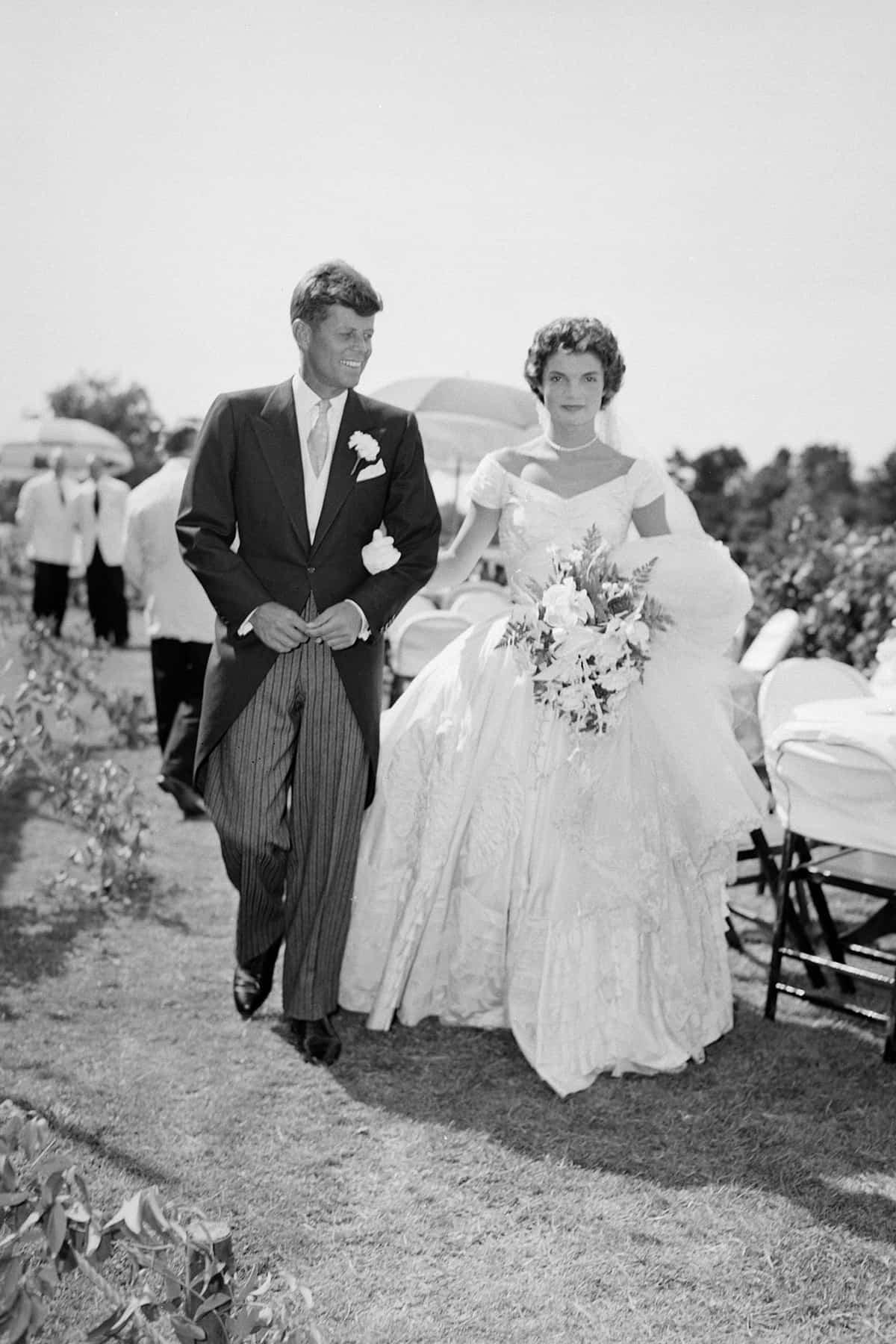 John F. Kennedy and Jacqueline Bouvier, 1953