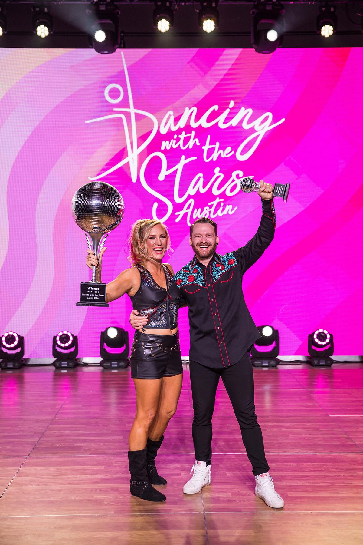 2020 Dancing With The Stars winners Julie Jumonville and Travis Herman