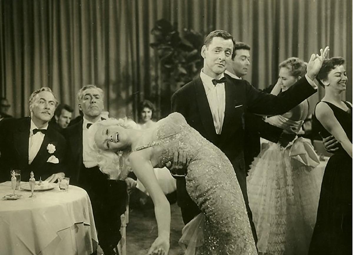 Jayne Mansfield and Tony Randall publicity shot, 1956. Courtesy of 20th Century Fox publicty archives